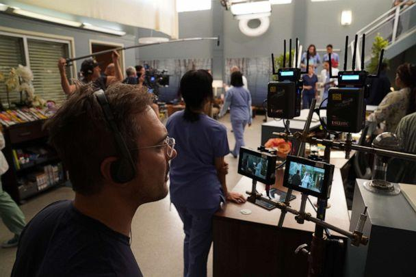 PHOTO: An undated photo show 'Grey's Anatomy' crew working behind the scenes. (Gilles Mingasson/ABC)