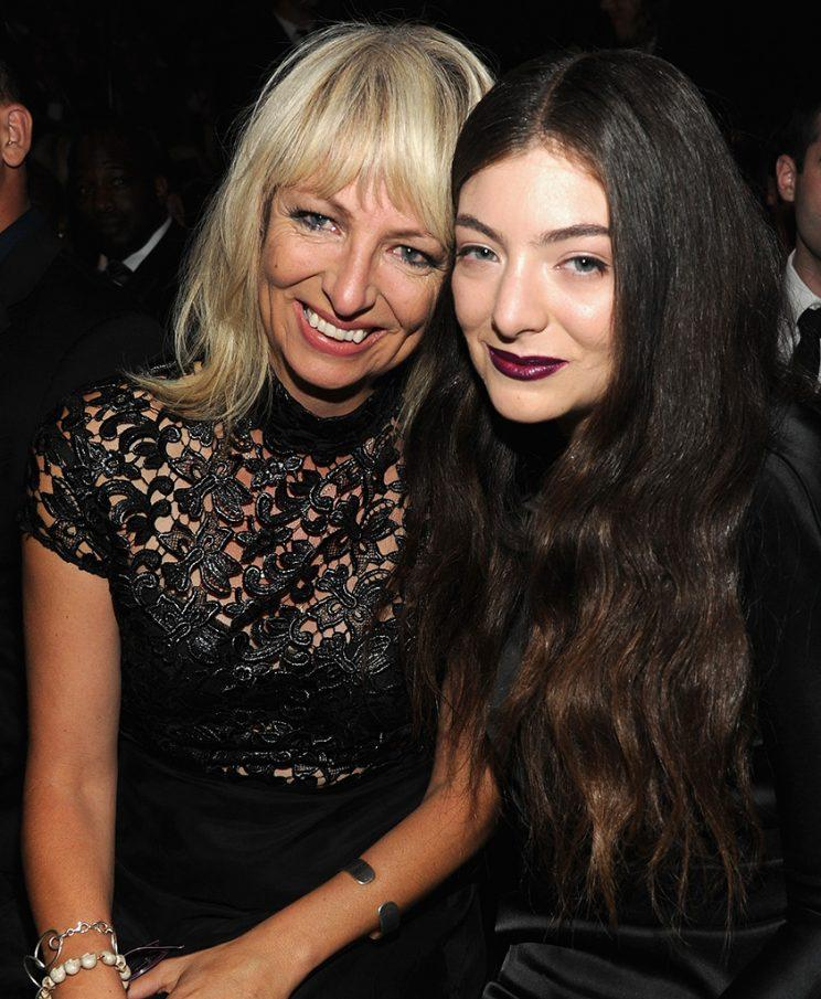 Lorde and her mom, Sonja, at the Grammys.
