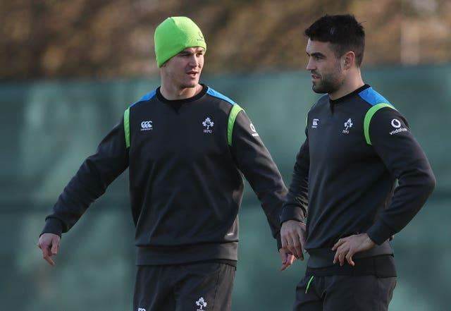 Ireland captain Johnny Sexton, left, is fit to feature following a head knock but scrum-half Conor Murray, right, remains sidelined by a hamstring problem