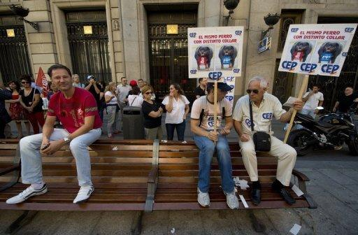 Spaniards swarm Madrid for anti-austerity rally