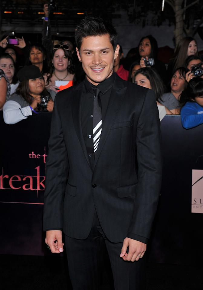 "<p class=""MsoNoSpacing"">Alex Meraz arrives at the red carpet premiere for ""The Twilight Saga: Breaking Dawn – Part 1"" in Los Angeles, CA. (Photo by Vince Bucci/Yahoo!)</p>"