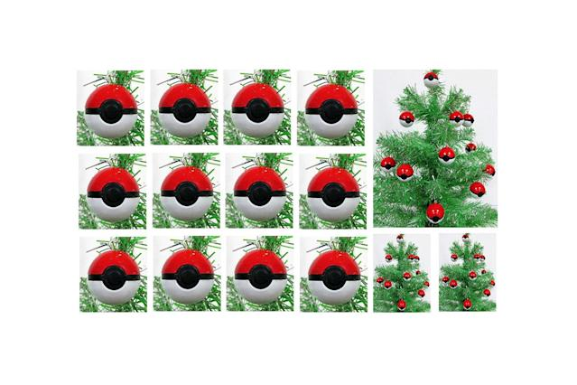 "<p>If you want to catch a lot of Pokémons this holiday season, you'll need to load up on Poké balls, so add this set of 12 mini red ornaments to your tree — and maybe you'll find Pikachu waiting under it on Christmas morning. <strong><a href=""https://www.amazon.com/Pokemon-Piece-MINI-Christmas-Ornament/dp/B01L86OOAQ/ref=as_at/"" rel=""nofollow noopener"" target=""_blank"" data-ylk=""slk:Buy here"" class=""link rapid-noclick-resp"">Buy here</a></strong> </p>"