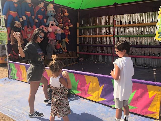 "<p>Yeah, some fair games are rigged, but they can also be a lot of fun. Just ask Kourtney. (Photo: <a href=""https://www.instagram.com/p/BYl7wyuD5Qe/?taken-by=kourtneykardash"" rel=""nofollow noopener"" target=""_blank"" data-ylk=""slk:Kourtney Kardashian via Instagram"" class=""link rapid-noclick-resp"">Kourtney Kardashian via Instagram</a>)<br><br></p>"