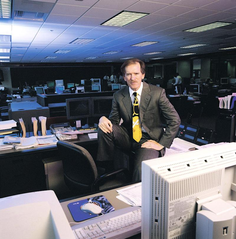 FILE: Bill Gross, managing director and chief investment officer for Pacific Investment Management Co. (PIMCO) poses for a photograph in his office in Newport Beach, California, U.S., on February 27, 2000. Gross, who reigned for decades as the Bond King at Pacific Investment Management Co., is retiring more than four years after jumping to Janus Henderson Group Plc from the fixed-income giant he co-founded. Ive had a wonderful ride for over 40 years in my career -- trying at all times to put client interests first while inventing and reinventing active bond management along the way, Gross said in a statement Monday. Photographer: Marc Salomon/Bloomberg via Getty Images