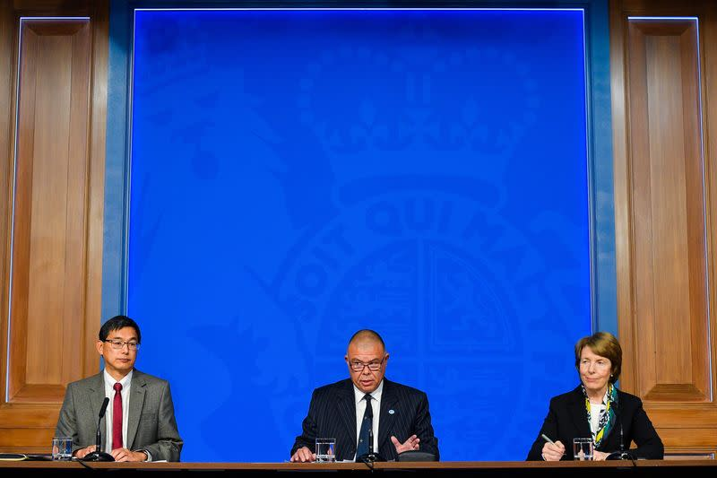 Media briefing on COVID-19 at Downing Street, in London