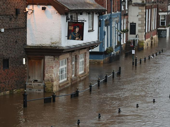 Floodwaters in York caused by Storm ChristophDanny Lawson/PA