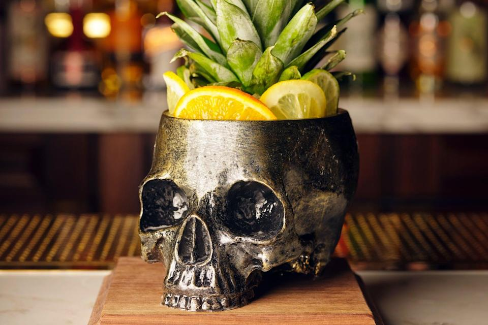 The skull is the sign: barware suggests things are not quite as they seem at Side Hustle (Press Handout)