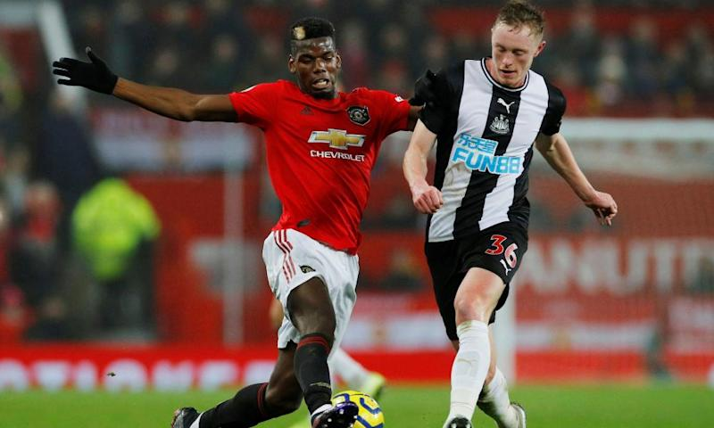 Manchester United's Paul Pogba (left) last played for Manchester United on Boxing Day when he came on as a substitute in the 4-1 win over Newcastle.