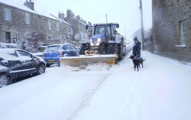 Snow in County Durham