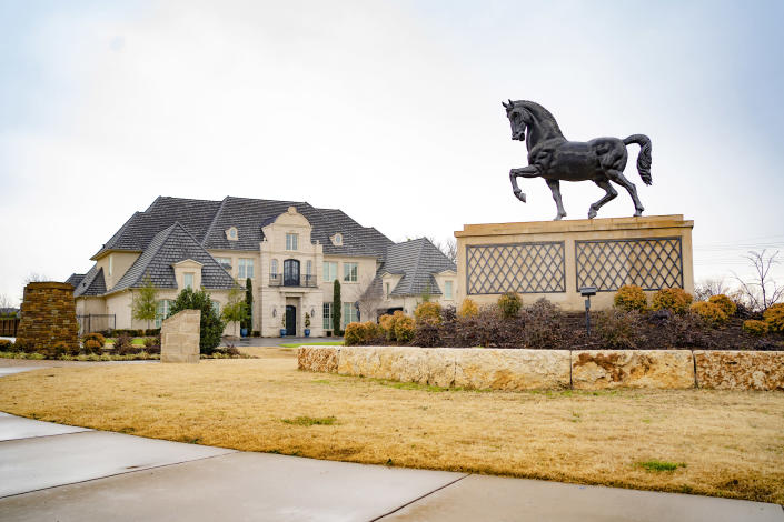 Southlake, Texas, is a magnet for wealthy professionals, with the median household income topping $230,000. (Nitashia Johnson / for NBC News)