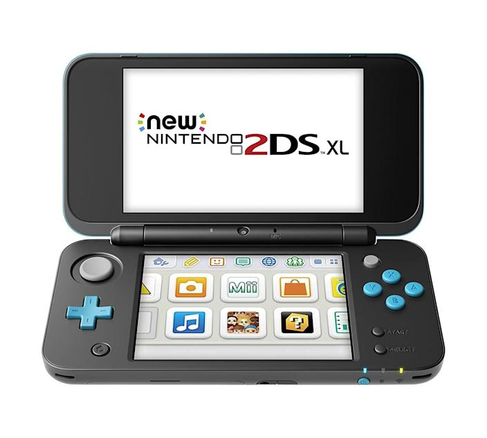 <p>The <span>Nintendo 2DS XL in Black and Turquoise</span> ($156 and up) is a gloriously portable way for your loved one to catch up on all their favorite Nintendo games. Not only does it now come in a colorful design, but it's also the size of a makeup compact and easily fits in any pocket or bag.</p>