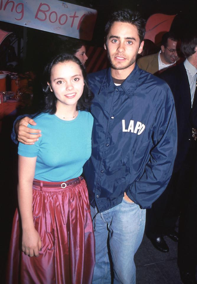 """<p>Leto accompanied his future <em>""""The Last of the High Kings""""</em> co-star Christina Ricci to the Los Angeles premiere in 1994. (Photo: BEI/Shutterstock)</p>"""