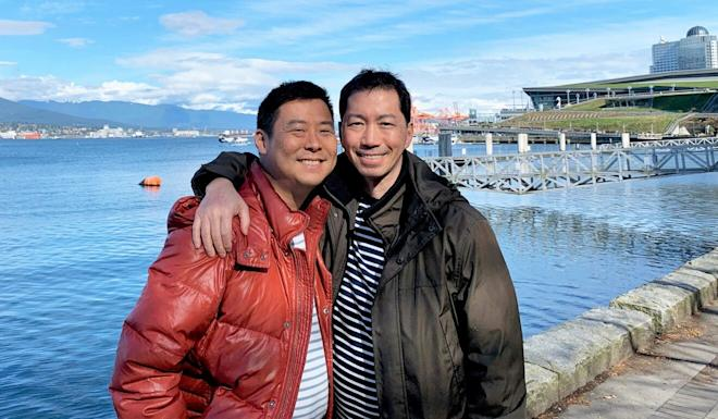 Hong Kong immigrants Henry Lam (left) and husband Guy Ho in Vancouver. Photo: Handout