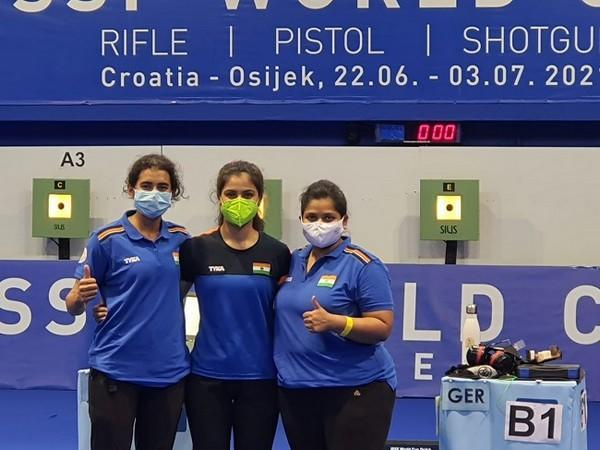 Indian shooting team after the win (Image: NRAI)