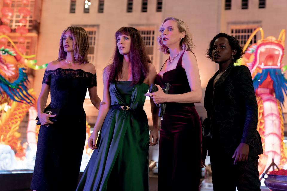 "(from left) Graciela (Penelope Cruz), Mason ""Mace"" Brown (Jessica Chastain), Marie (Diane Kruger) and Khadijah (Lupita Nyong'o) in The 355, co-written and directed by Simon Kinberg. (Universal Pictures)"