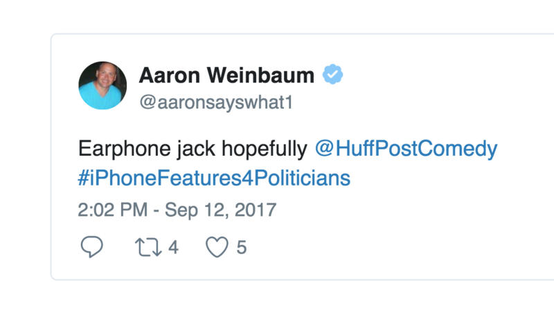The New iPhone Led Twitter To Think Of #iPhoneFeatures4Politicians