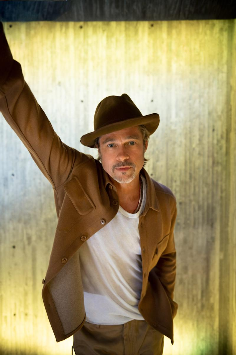 Brad Pitt finds himself reflecting on fatherhood, both as a son and a dad, with his new film