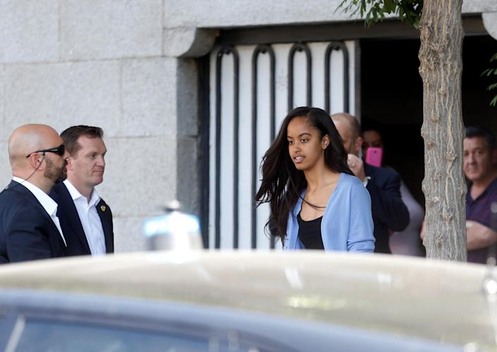 <p>Malia Obama leaves a restaurant in Madrid, Spain July 1, 2016. (REUTERS/Javier Barbancho) </p>