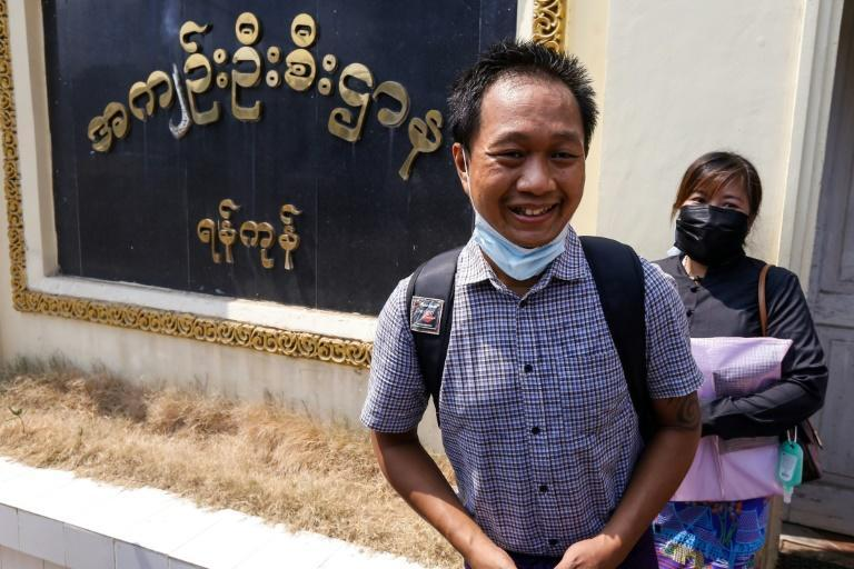 Associated Press (AP) photographer Thein Zaw was charged with 'spreading false news'