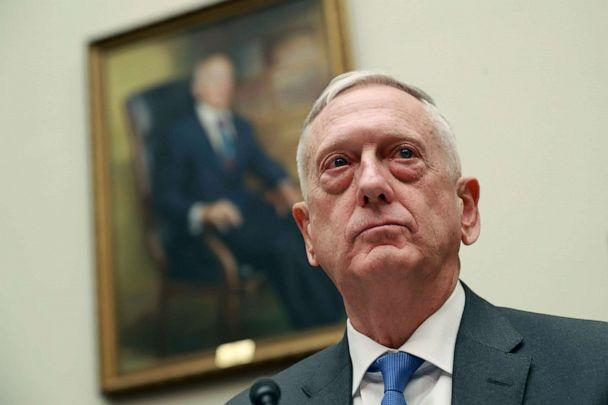 PHOTO: Defense Secretary James Mattis testifies before the House Armed Services Committee in the Rayburn House Office Building on Capitol Hill, April 12, 2018, in Washington. (Chip Somodevilla/Getty Images, FILE)