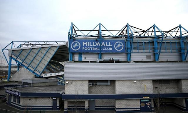 "<span class=""element-image__caption"">The Den, Millwall's home stadium in Bermondsey, south-east London. </span> <span class=""element-image__credit"">Photograph: Alex Pantling/Getty Images</span>"