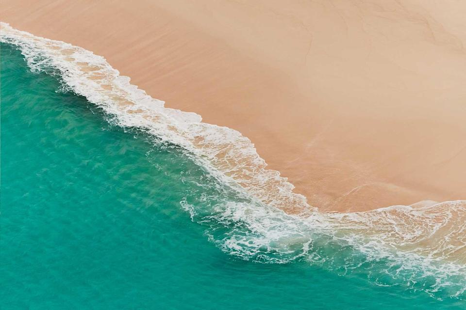 Aerial view of a beach in Anguilla