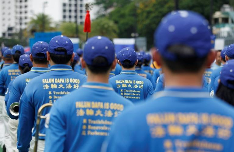 The Epoch Times is handed out by members of Falun Gong, a spiritual movement that is banned in China