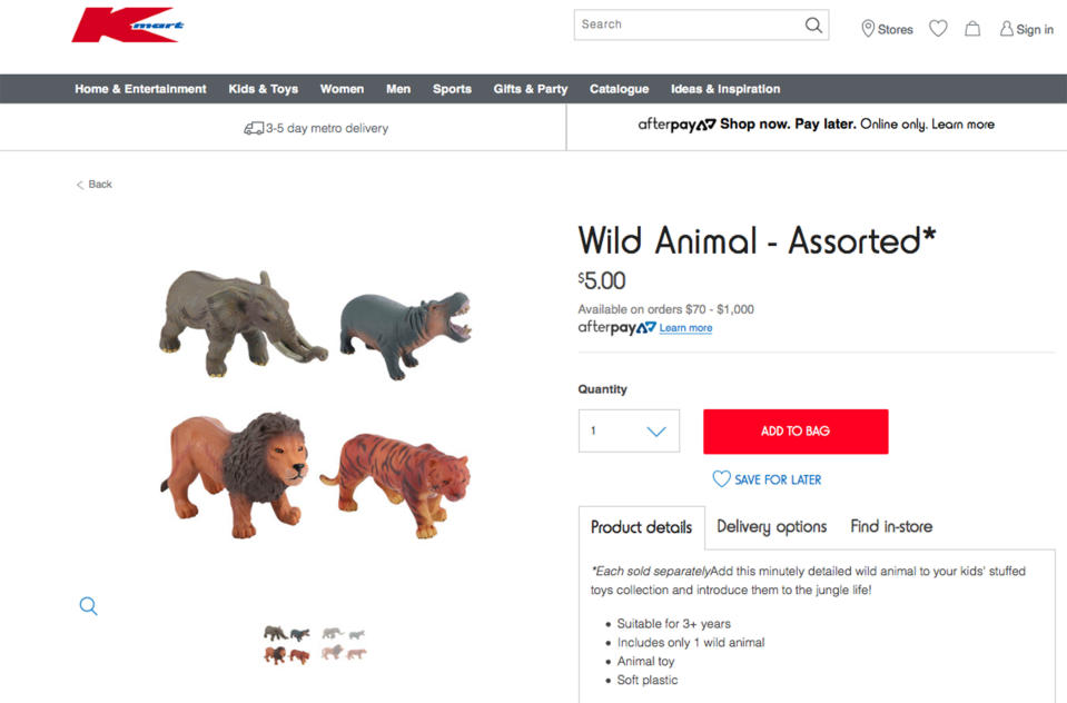 The toy is sold by Kmart [Photos: Caters]