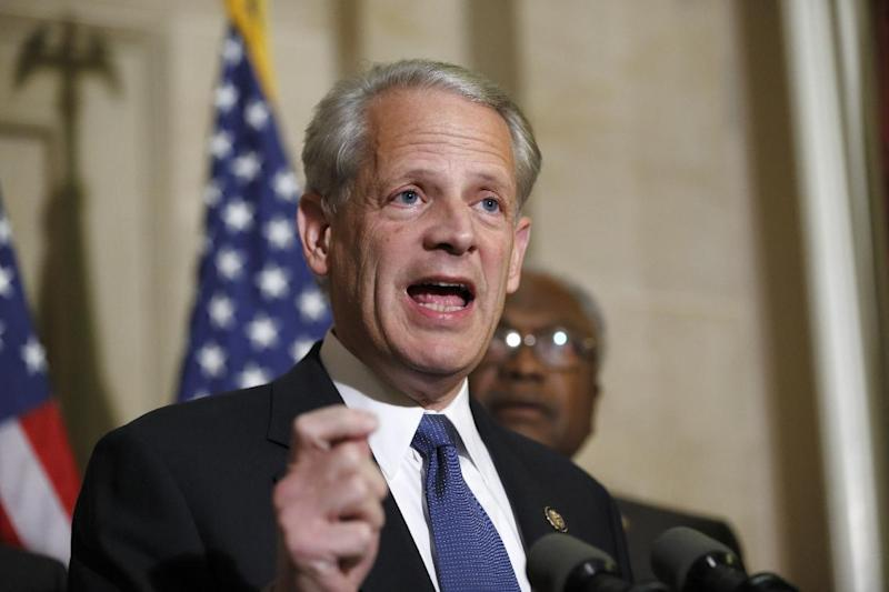 "FILE - This Nov. 29, 2012 file photo shows Rep. Steve Israel, D-N.Y., speaking to reporters just after meeting with Treasury Secretary Timothy Geithner on the fiscal cliff negotiations, at the Capitol in Washington. Israel, who represents the area where Bravo films its series ""Princesses Long Island"" said that it is ""the most objectionable thing I've ever seen on television"" and promotes stereotyping of Jews. (AP Photo/J. Scott Applewhite, file)"