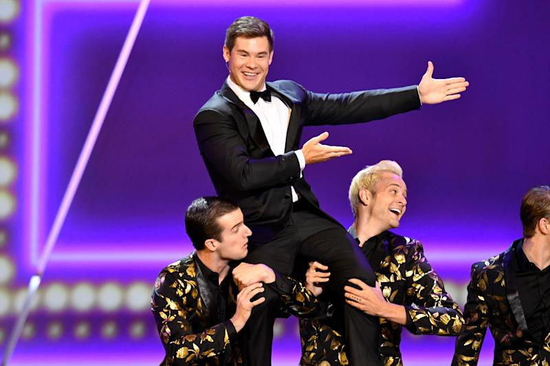Adam DeVine performs on stage during the 71st Emmy Awards.