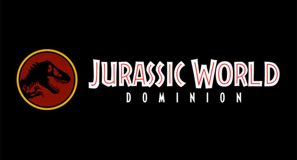 The title treatment for <i>Jurassic World: Dominion</i> (Amblin)