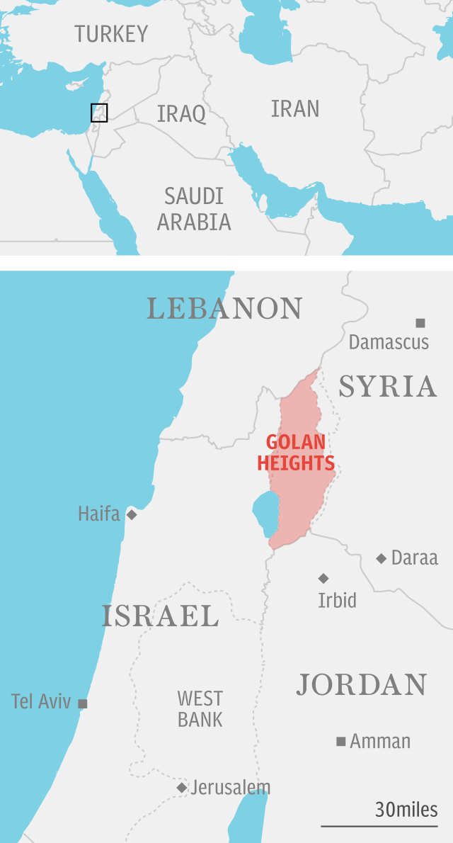 Golan Heights - locator map