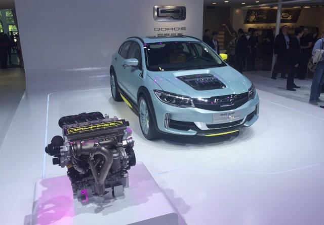 FreeValve camless engine shown in Qoros concept at 2016 Beijing Auto Show