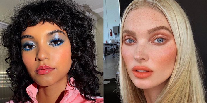 """<p class=""""body-dropcap"""">IMO, one of the best things about the transition from winter to spring—other than, you know, the warmer temps and longer days—are the spring makeup trends. Like, fine, <em>technically</em> you don't need to wait for a seasonal change to switch up your makeup looks, but it's as good as a reason as any, amirite? <strong>This year's</strong> <strong>spring makeup trends are all about color</strong>—think: vibrant <a href=""""https://www.cosmopolitan.com/style-beauty/beauty/g24800101/pink-lipstick-colors/"""" rel=""""nofollow noopener"""" target=""""_blank"""" data-ylk=""""slk:pink lipstick"""" class=""""link rapid-noclick-resp"""">pink lipstick</a> and shimmery <a href=""""https://www.cosmopolitan.com/style-beauty/beauty/how-to/a48622/how-to-wear-gold-shadow/"""" rel=""""nofollow noopener"""" target=""""_blank"""" data-ylk=""""slk:gold eyeshadow"""" class=""""link rapid-noclick-resp"""">gold eyeshadow</a>. I scrolled through my IG saved photos (wait, you don't have a bold makeup folder? ...awkward) and pulled out the most stellar makeup looks that you are absolutely going to drool over. So, without further ado, the 10 best spring 2021 makeup trends.</p>"""