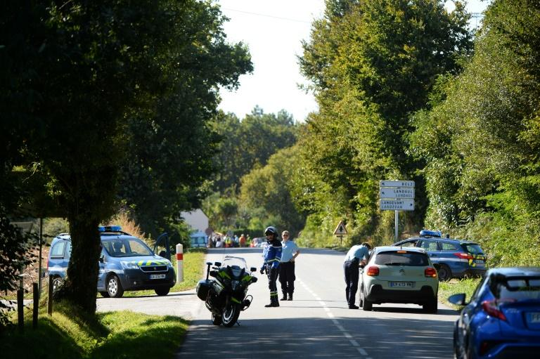 Police set up a security perimeter and evacuated eight houses near the site where a Belgian F-16 fighter jet crashed in western France on Thursday