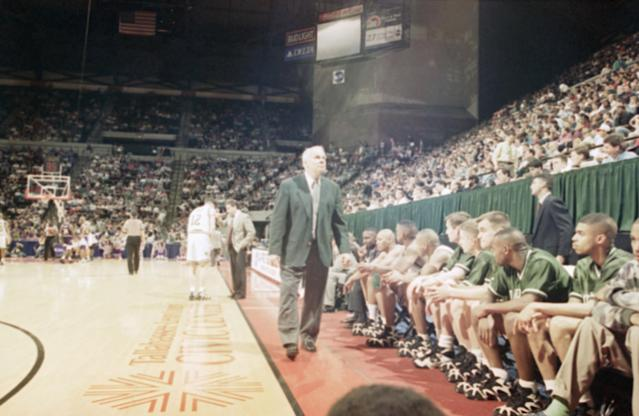 Michigan State announced Monday night that former coach Jud Heathcote has died. (AP)