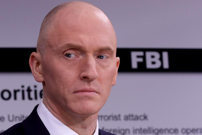 Carter Page participates in a discussion on 'politicization of DOJ and the intelligence community in their efforts to undermine the president' hosted by Judicial Watch at the One America News studios on Capitol Hill May 29, 2019 in Washington, DC. (Photo: Chip Somodevilla/Getty Images)