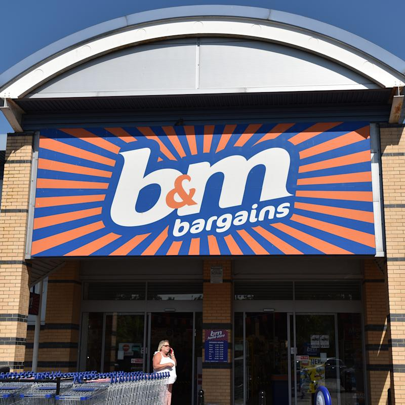 SOUTHEND ON SEA, ENGLAND - JULY 03: A general view of a B&M (BandM) discount retail outlet store on July 3, 2018 in Southend on Sea, England. (Photo by John Keeble/Getty Images)