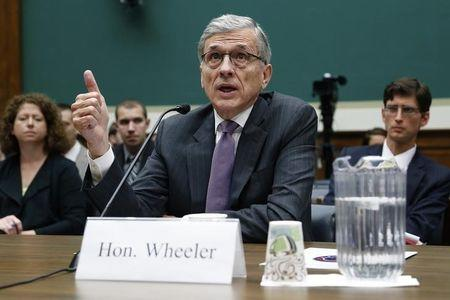 U.S. Federal Communications Commission Chairman Tom Wheeler testifies before a House Energy and Commerce Communications and Technology Subcommittee hearing on oversight of the FCC on Capitol Hill in Washington May 20, 2014. REUTERS/Jonathan Ernst