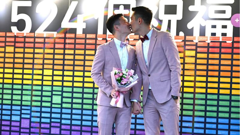 Taiwan holds first same-sex marriages in historic day for Asia