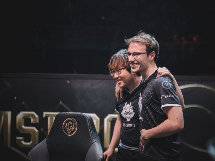 Perkz and Trick following their most decisive win over Flash Wolves (lolesports)