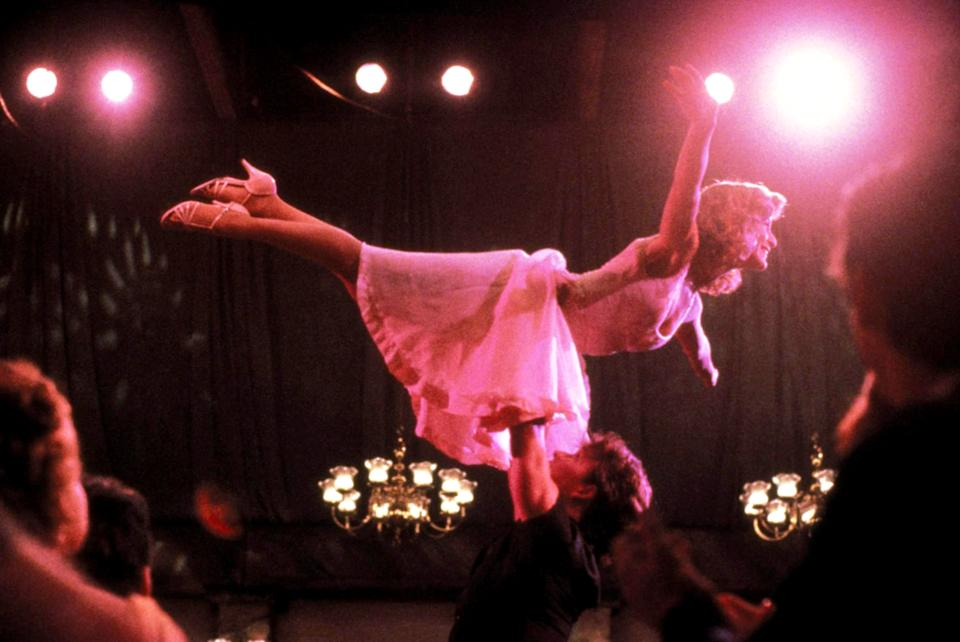 Grey and Swayze in the iconic grand finale of Dirty Dancing (Photo: Vestron/Courtesy Everett Collection)