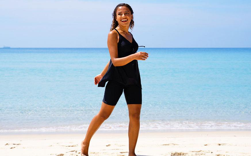 Firpearl Women's Swim Shorts — because confidence is sexy! (Photo: Amazon)