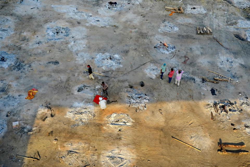 Mass cremation site in AllahabadAFP via Getty Images
