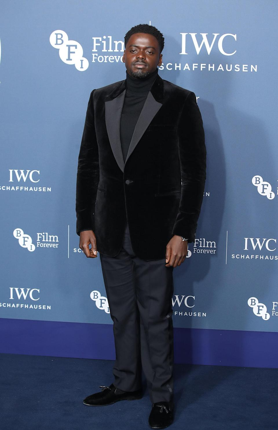 <p>The 'Get Out' star looked every inch the film star in a velvet jacket. <em>[Photo: Getty]</em> </p>
