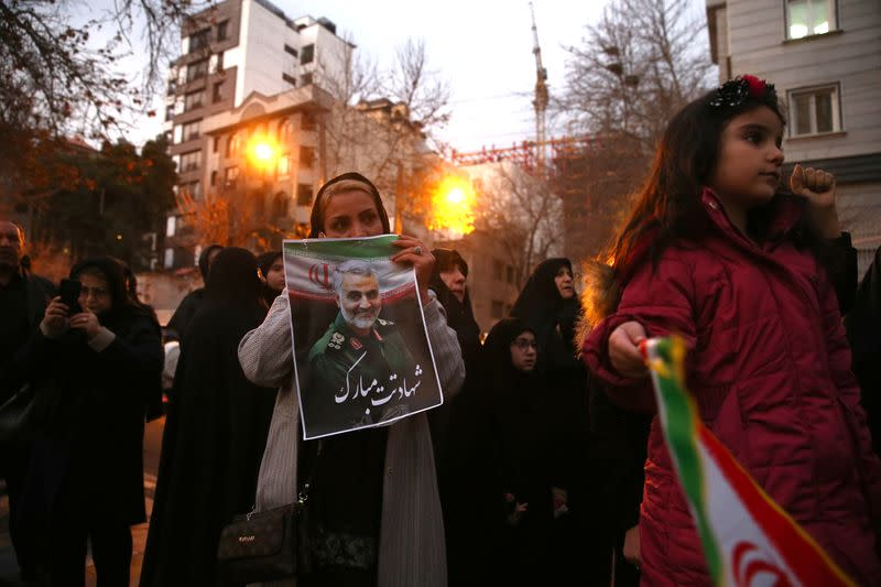 Sorrow mixed with fear as Iran mourns Soleimani's death