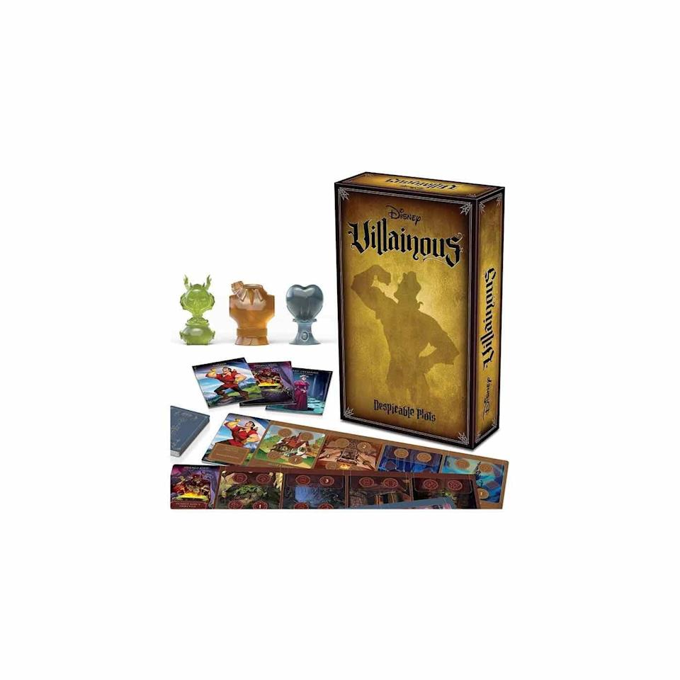 """<p><strong>Ravensburger</strong></p><p>amazon.com</p><p><strong>$31.99</strong></p><p><a href=""""https://www.amazon.com/dp/B08VQD7XVZ?tag=syn-yahoo-20&ascsubtag=%5Bartid%7C10072.g.33543751%5Bsrc%7Cyahoo-us"""" rel=""""nofollow noopener"""" target=""""_blank"""" data-ylk=""""slk:Shop Now"""" class=""""link rapid-noclick-resp"""">Shop Now</a></p><p>In this game, players tap into their darker side, channeling one of three infamous Disney villains in an effort to complete their task—capturing 99 puppies as Cruella de Vil, for example—before everyone else. </p>"""