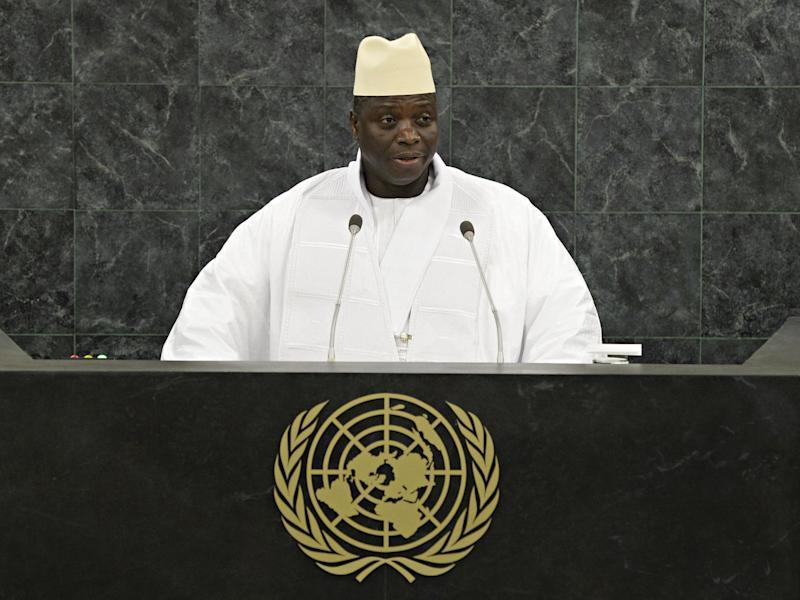 Hit men of the former Gambian dictator Yahya Jammeh (pictured) are being offered amnesty to encourage others to come forward: Andrew Burton/Getty Images