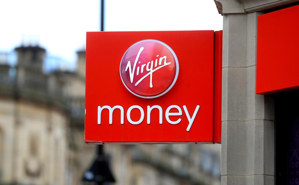 File photo dated 31/03/20 of a Virgin Money branch in Sheffield. Virgin Money customers have increased the amount of cash in their bank accounts by around 5% as people have been unable to spend money eating out or shopping in the usual way because of the pandemic.