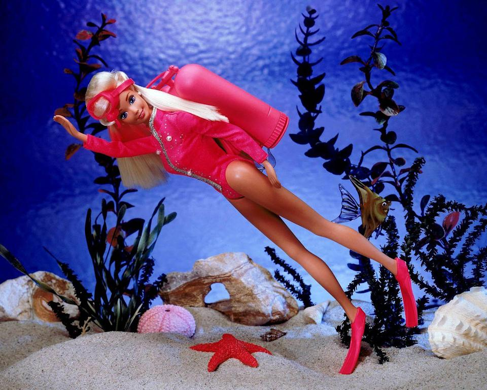 <p>Not one to shy away from a new hobby, Scuba Barbie explores the depths of the ocean. </p>